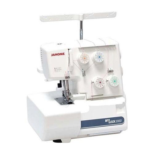 Janome ML205D, white - (оверлок. Иглы: 130/705 Н (HAx1SP). Виды швов: ролевой шов, flatlock. Длина стежка: 1 - 5 мм. Число нитей: 3, 4. Швейных операций: 4.)