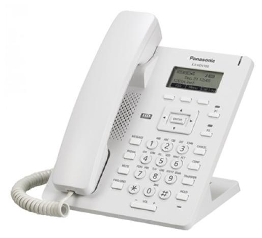 VoIP-телефон Panasonic KX-HDV100RU, LAN, 1 линии, есть определитель номера