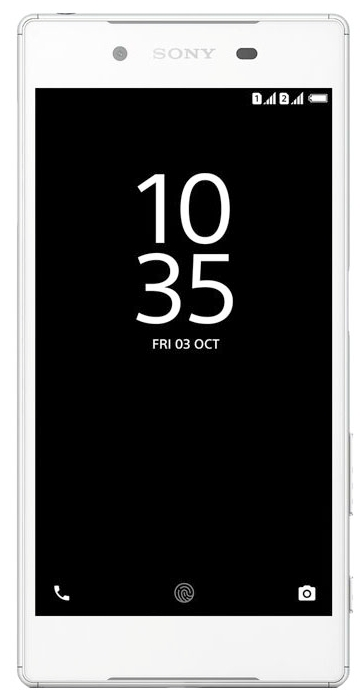 Sony Xperia Z5 Dual White - (Android 5.1; GSM 900/1800/1900, 3G, 4G LTE, LTE-A Cat. 6; SIM-карт 2 (nano SIM); RAM 3 Гб; ROM 32 Гб; micro SD; 2900 мАч; 23 млн пикс., светодиодная вспышка; есть, 5 млн пикс.; датчики - считывание отпечатка пальца)