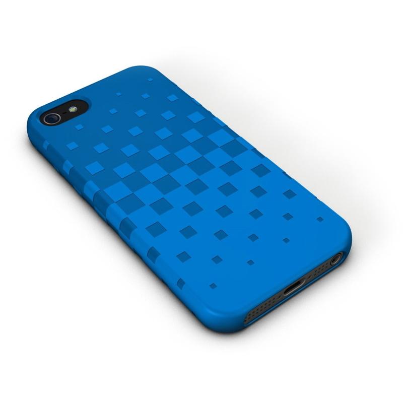 XtremeMac Tuffwrap для iPhone 5, Blue - (iPhone 5; пластик, резинка)