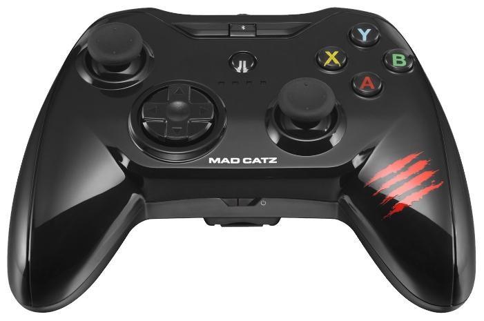 Mad Catz Micro C.T.R.L.i Gloss Black - беспроводной геймпад для iOS; кнопок 8; джойстиков 2; крестовина (D-pad) есть • .