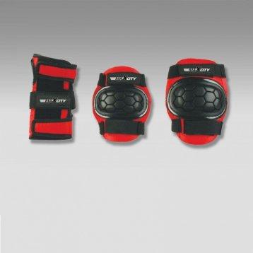 Защита роликовая MaxCity Match, р. S, black / red
