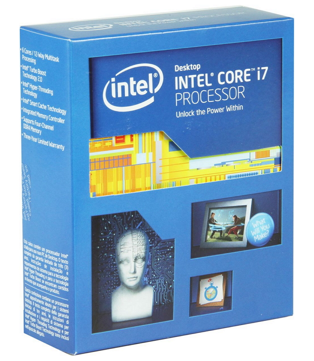 ��������� Intel Core i7-5820K Haswell-E (3300MHz, LGA2011-3, L3 15360Kb), BOX