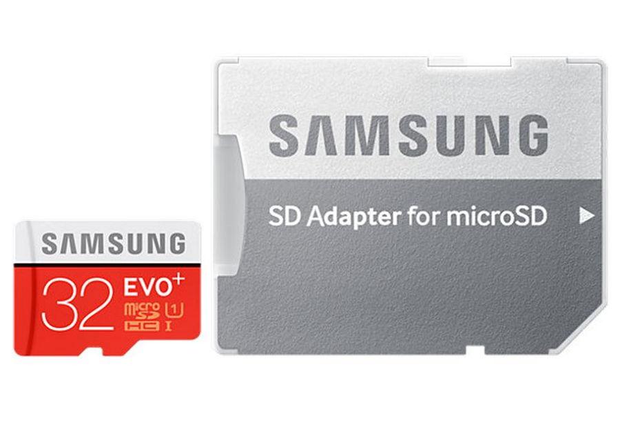 Карта памяти Samsung EVO PLUS microSDHC 32Gb U1 + SD-adapter