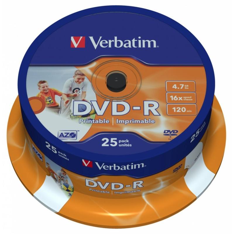 DVD-диск Verbatim DVD+R 4.7 Gb 43500