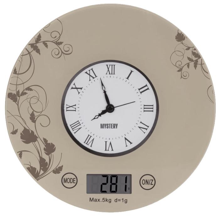 Весы кухонные Mystery MES-1818 beige