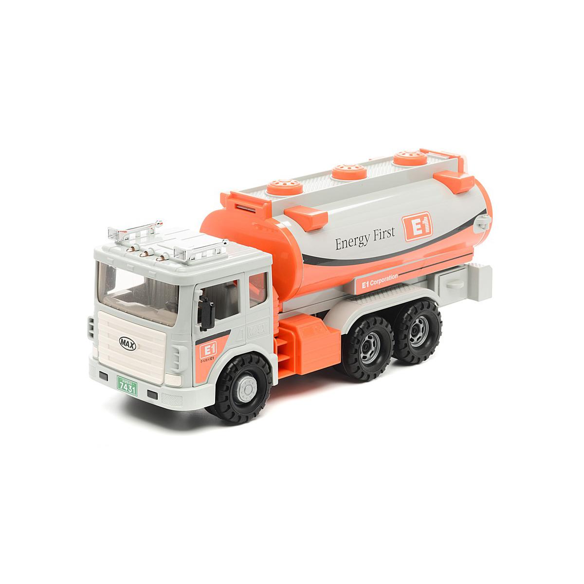 Машинка Daesung Max 965-1 бензовоз, white / orange