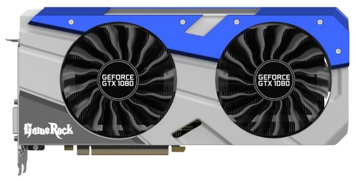 Видеокарта PALIT PCI-E NV GTX1080 GameRock 8192Mb 256b DDR5X NEB1080T15P2-1040G