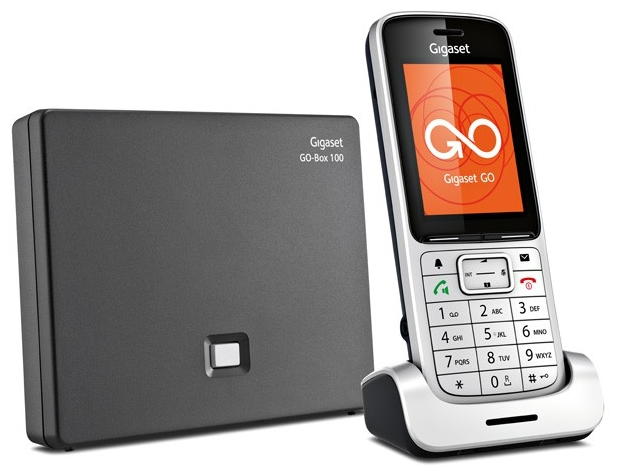 VoIP-телефон Gigaset SL450A Go, silver, USB, LAN, 3 линии, есть определитель номера, время работы в режиме разговора 12 ч