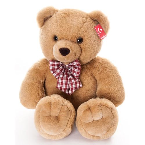 Мягкая игрушка Aurora Медведь с клетчатым бантом