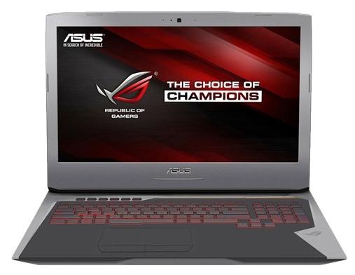 ASUS ROG G752VY (90NB09V1-M04950) - (Intel Core i7 6820HK 2700 МГц. Экран 17.3 дюймов, 1920x1080, широкоформатный TFT IPS. ОЗУ 8 Гб DDR4 2133 МГц. Накопители HDD+SSD 1128 Гб; DVD-RW, внутренний. GPU NVIDIA GeForce GTX 980M. ОС Win 10)