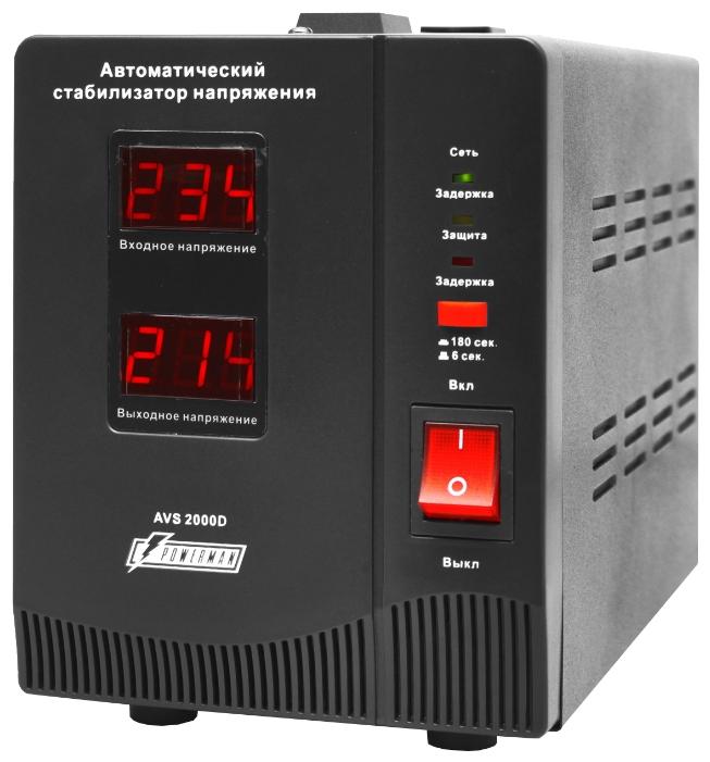 Стабилизатор напряжения Powerman AVS 2000D, Black