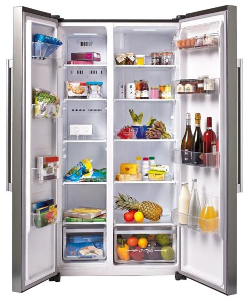Candy CXSN 171 IXH - (холодильник, 503 л (клим.класс ST), компрессоров 1, камер 2, дверей 2. Хол-ник 336 л (разм. No Frost). Мор-ник 167 л (разм. No Frost). ШГВ 90x70x178 см. Дисплей есть. Управление электронное. Энергопотр-е класс A (493 кВтч/год). серебристый / пластик/металл)