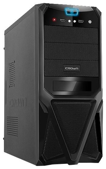 """Crown CMC-SM161 500W Black - Middle Tower • ATX, mATX • БП 450 Вт • Отсеки: 5.25""""-4, 3.5""""(внеш)-1; 3.5""""(внутр)-4;"""