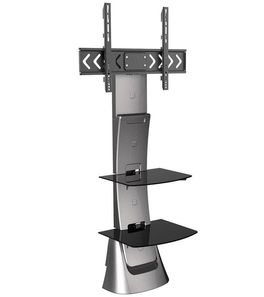 """Arm Media Triton-10, Light grey - 32""""- 70""""; до 40 кг (кронштейн), 8 кг (полка). Глубина 374 мм. • VESA 200x100…600x400 мм"""