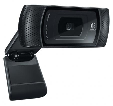 Logitech B910 HD - 1280x720; 5 млн пикс.; микрофон встроенный; фокусировка автоматическая; USB 2.0 960-000684