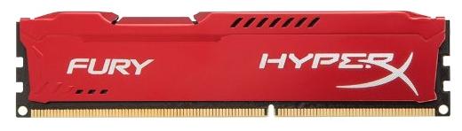 Оперативная память Kingston HyperX Fury Series HX318C10FR/4 Красный радиатор - 1 модуль 4 Гб; DDR3; DIMM 240-контактный; 1866 МГц;