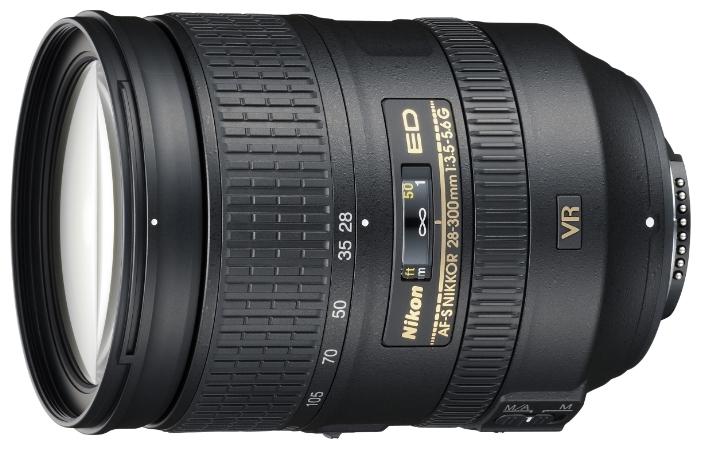 Nikon 28-300mm f/3.5-5.6G ED VR AF-S Nikkor - стандартный Zoom; ФР 28 - 300 мм; ZOOM 10.7x; F3.50 - F5.60 • Автофокус есть. JAA808DA