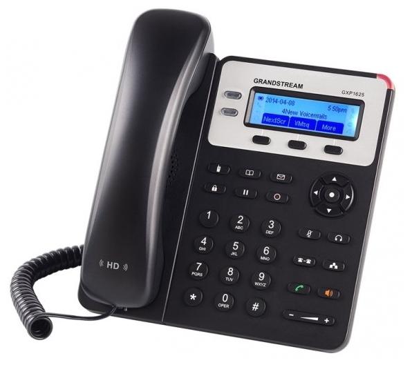 VoIP-телефон Grandstream GXP1625, WAN, LAN, 2 линии, есть определитель номера GXP-1625