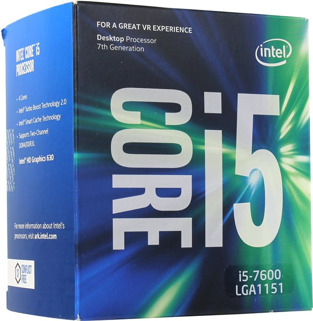 Процессор Intel Core i5-7600 BOX (4*3.5ГГц, 6МБ) Socket1151 BX80677I57600SR334