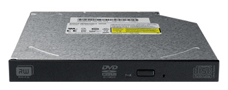 Lite-On DS-8ACSH-24 slim black - DVD RW DL; внутренний slim; SATA; полуавтоматический лоток