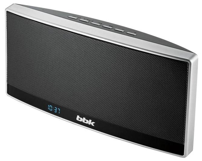 Портативная АС BBK BTA120, black/metal, пластик BTA120 черный/металлик