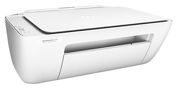 HP DeskJet 2130, струйный - (струйный (принтер/сканер/копир); A4; цветная; печать 20 стр/мин (ч/б А4), 16 стр/мин (цветн. А4) • Печать на: карточках, пленках, этикетках, фотобумаге, глянцевой бумаге, конвертах, матовой бумаге)