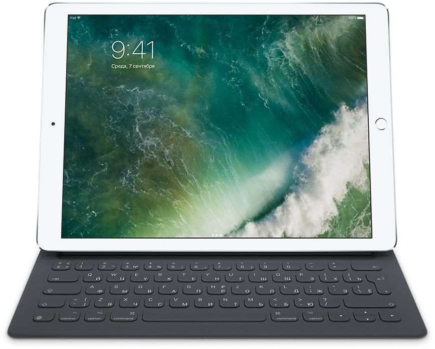 Клавиатура Apple Smart Keyboard для iPad Pro (MNKT2RS-A) black