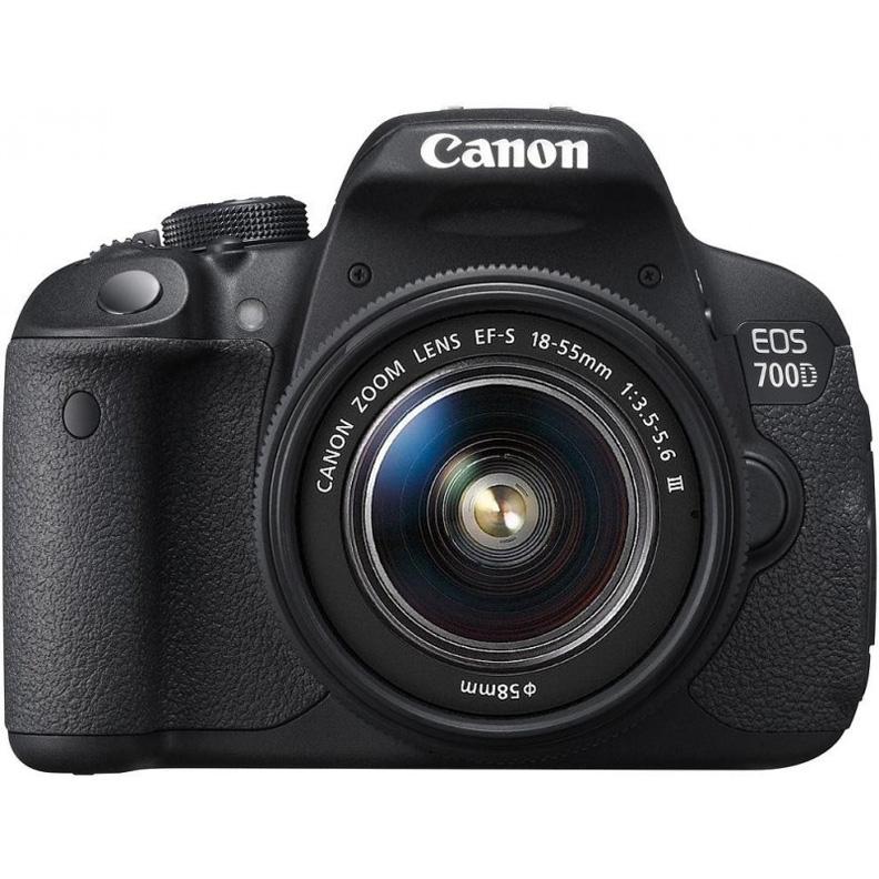 Canon EOS 700D KIT 18-55mm DC III - (18.5 млн, 1920x1080, 5 кадр./сек, ЖК-экран: поворотный, сенсорный, 1040000 точек, 3 дюйма)