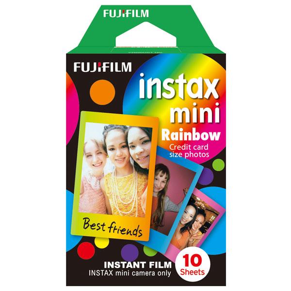 Fujifilm Instax Mini Rainbow WW1 10/PK - картридж на 10 снимков; для Instax Mini; подложка 86 x 54 мм; изображение 62 x 46 мм