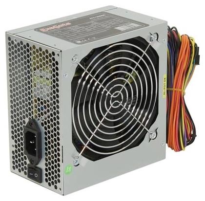 ExeGate UN500 500W - 500 Вт, 1 вентилятор (120 мм), PFC нет, линия +12В(1) - 18 A, линия +12В(2) - 17 A • Molex: 1 / SATA: 4 / CPU