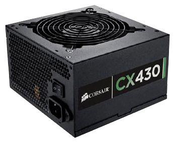 Corsair ATX 430W CX430 V3 (CP-9020046-EU) - 430 Вт, ATX12V 2.3, 1 вентилятор (120 мм), PFC активный, линия +12В(1) - 28 A • Molex:
