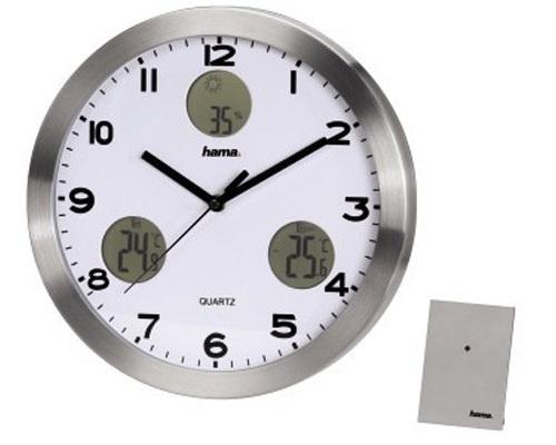 Часы настенные Hama AG-300 H-113982, silver
