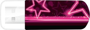 Флешка Verbatim 16Gb Mini Neon Edition 49396 pink
