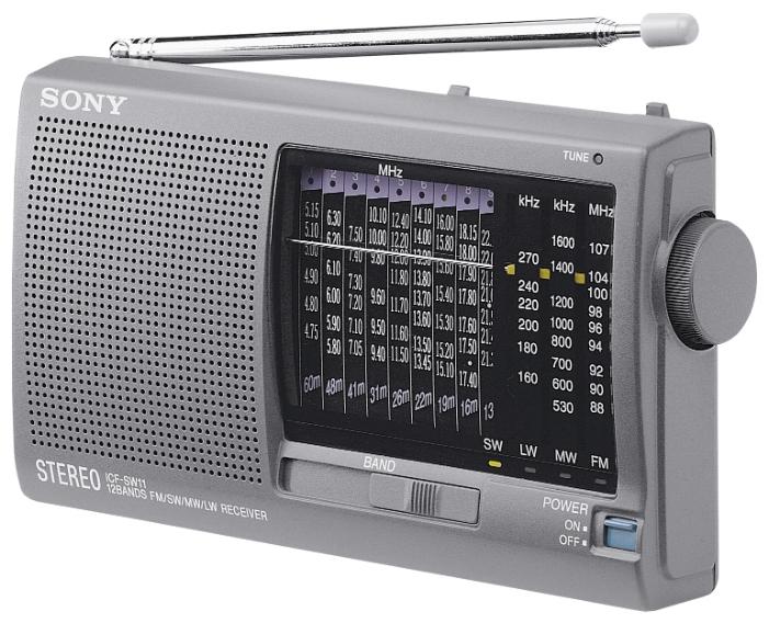 Радиоприёмник Sony ICF-SW11S, silver ICFSW11S.CE7