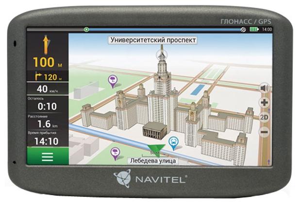 Navitel G500 - (экран 5 дюйм., LCD-цветной, 480x272 пикс., сенсорный - есть; загрузка карт - есть; ПО - Навител • USB, Micro SD)