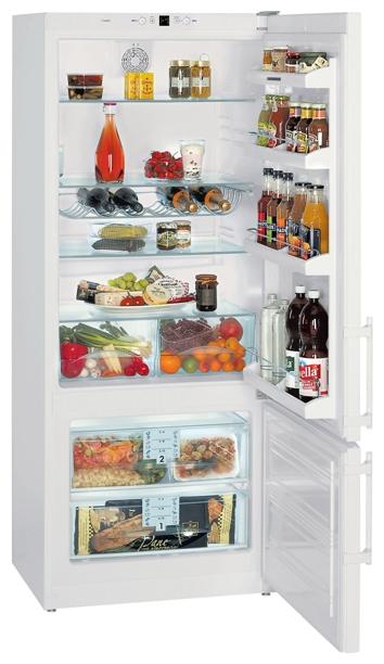 Liebherr CP 4613, White - (холодильник с морозильником, 432 л (клим.класс SN, T), отдельно стоящий, компрессоров 1, камер 2, дверей 2. Хол-ник 337 л (разм. капельная система). Мор-ник 95 л, внизу (разм. ручное). ШГВ 75x62.8x184 см. Управление электронное. Энергопотр-е класс A+ (335 кВтч/год). белый / пластик)