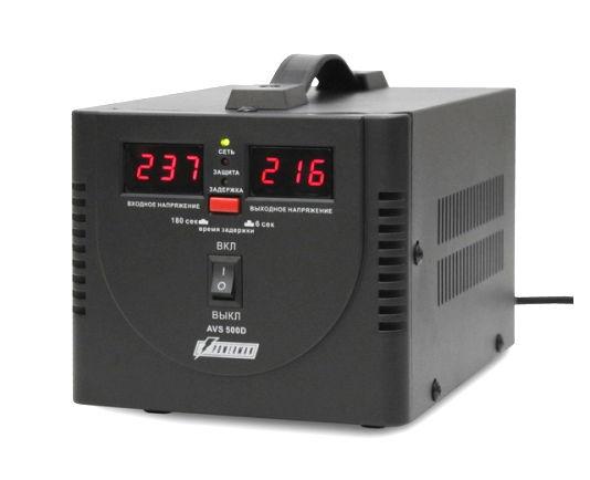 Стабилизатор напряжения Powerman AVS 500D, Black
