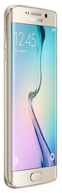 Samsung Galaxy S6 Edge 128Gb, Gold - (Android 5.0; GSM 900/1800/1900, 3G, LTE; SIM-карт 1 (nano SIM); Samsung Exynos 7420; RAM 3 Гб; ROM 128 Гб; 2600 мАч; 16 млн пикс., светодиодная вспышка; есть, 5 млн пикс.; датчики - освещенности, приближения, гироскоп, компас, барометр, считывание отпечатка пальца)