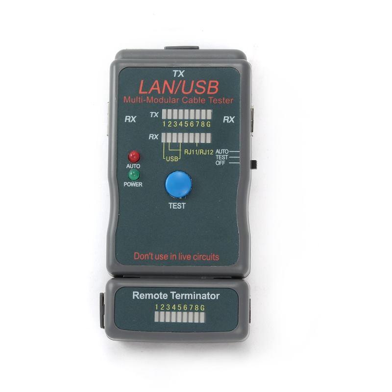 Gembird NCT - 2, green - (Портативный тестер для проверки кабелей различных типов; USB (тип A/A или A/B), Ethernet BNC (10Base-T) (через адаптер, в комплект поставки не входит), Витая пара FastNet 100Base-TX, 1000Base-TX, Token Ring, AT&T 258A (через адаптер, в комплект поставки не входит), Телефонный кабель RJ11/RJ12 (через адаптер, входит в комплект поставки) ; Помогает быстро определить неисправность в кабельной сети, протестировать кабель на обрыв, замыкание, проверить целостность экрана и правильно
