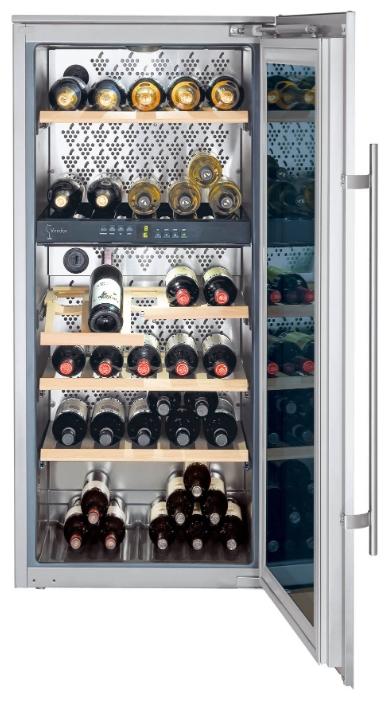 Liebherr WTEes 2053-23 - (винный шкаф, 195 л (клим.класс SN, ST), встраиваемый, камер 1, дверей 1. ШГВ 56x55x122.5 см. Дисплей есть. Управление электронное. Энергопотр-е 155 кВтч/год. серебристый / металл)