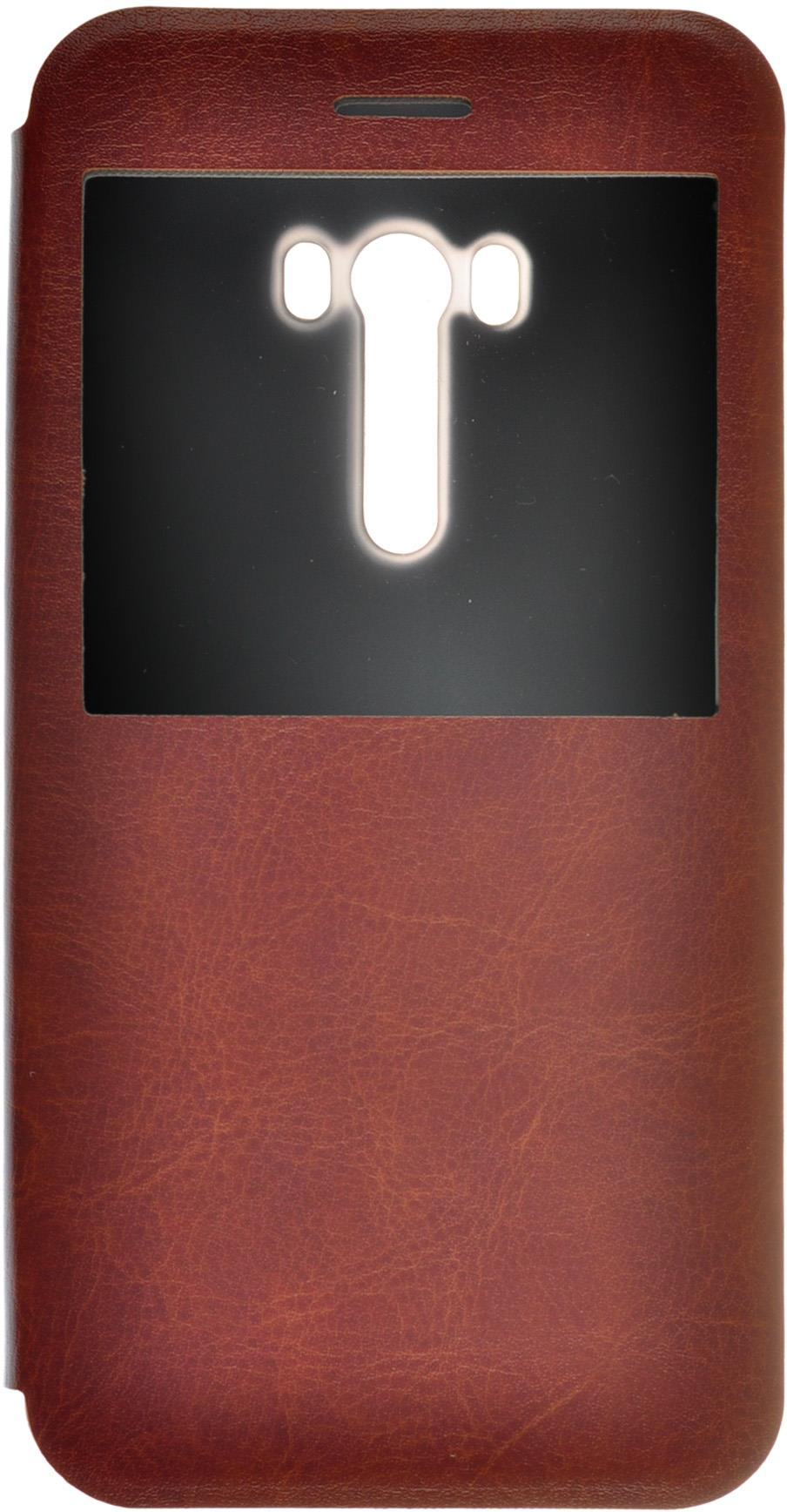 "skinBOX Lux Asus Zenfone Selfie ZD551KL Brown - (; 5.5""; поликарбонат и экокожа)"