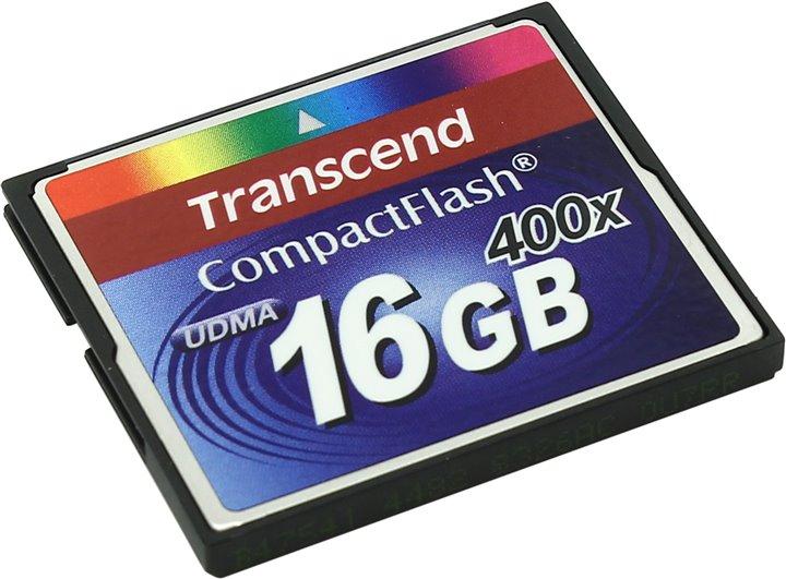 Карта памяти Transcend TS16GCF400, CF, 16Gb, 400x