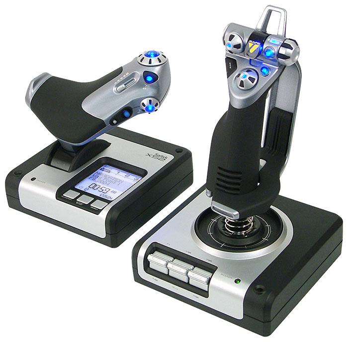 Saitek X52 Flight Control System - проводной джойстик; USB; кнопок 23; осей 7; РУД есть • совместимость - ПК