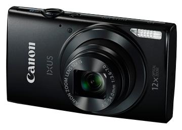 Canon IXUS 170 Black - (20.5 млн, оптический zoom: 12x, 1280x720, 0.8 кадр./сек, 230000 точек, 2.70 дюйма)