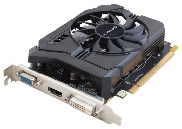 Sapphire Radeon R7 250E 2048Mb - AMD Radeon R7 250E, 28 нм, 925 МГц, 2048 Мб GDDR3@1600 МГц 128 бит, TDP 55 Вт • Разъёмы: DVI, поддержка