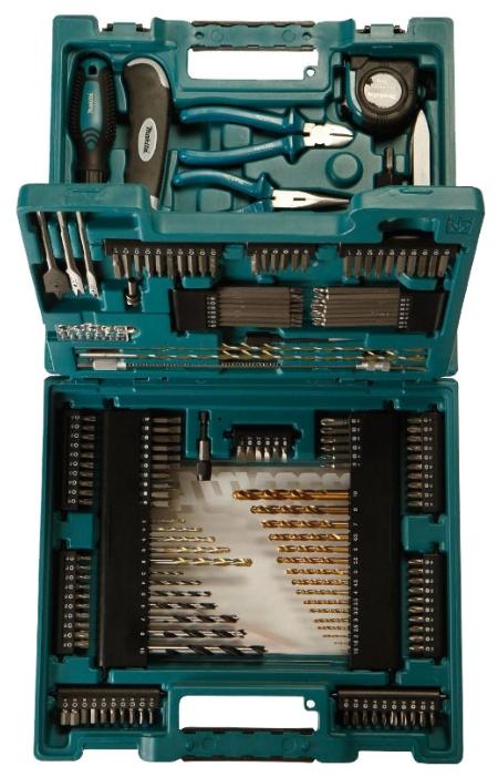 Makita D-37194 - Универсальный; предметов 200 шт • Биты: есть, 142 шт . Рукоятка реверс. есть.