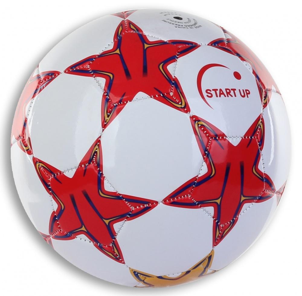 Мяч футбольный для отдыха Start Up E5126 красный/белый р5