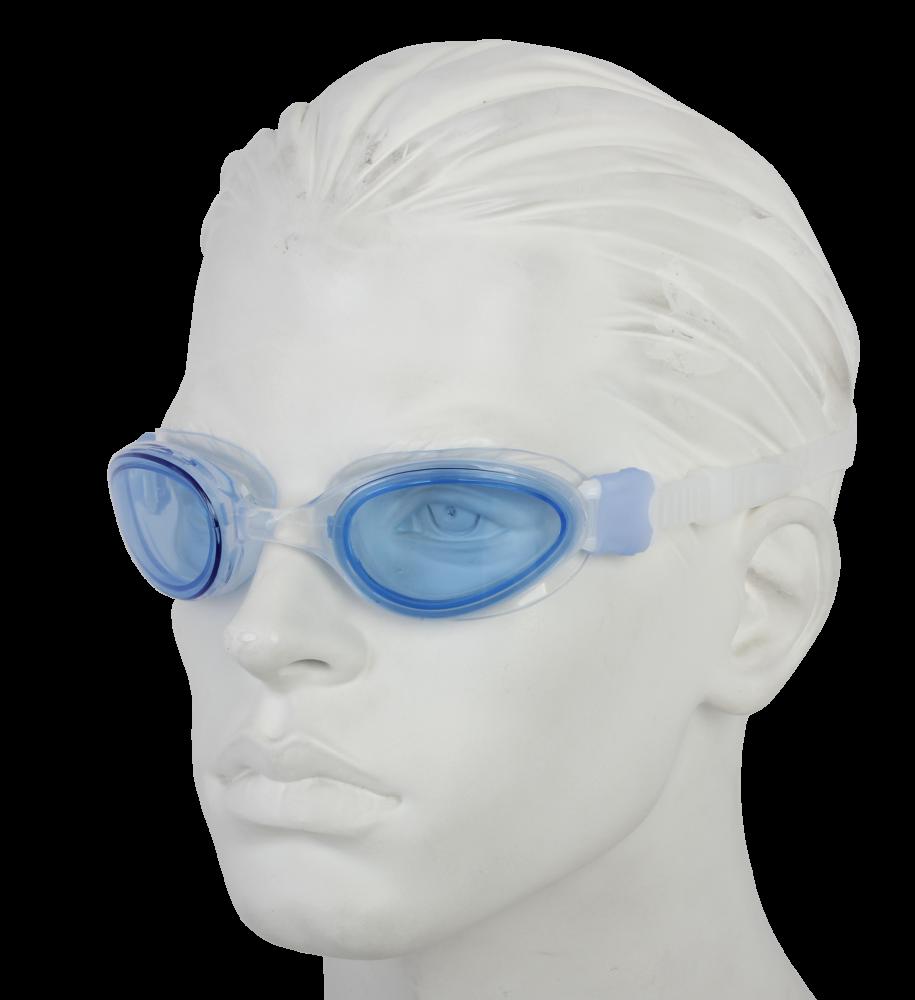 Очки плавательные Larsen S1201 голубой (пвх+поликарбонат)