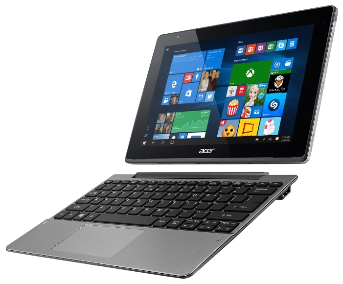 "Acer Aspire Switch 10 2/64Gb WiFi +докстанция SW5-014-1799, grey - (10.1"", 1920x1200, 2 Гб DDR3, 64 Гб, Windows 10 • акселерометр)"